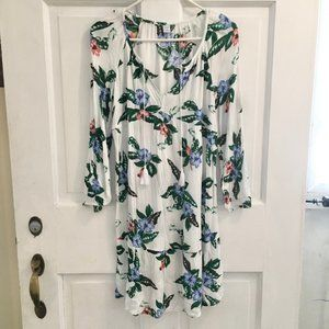 WOMEN'S NEW! Old Navy Tropical Floral Dress SIZE S